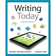 Writing Today, Brief Edition, with MyWritingLab with eText -- Access Card Package