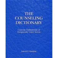 Counseling Dictionary : Concise Definitions of Frequently Used Terms