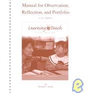LEARNING TO TEACH MANUAL F/OBSERVATION