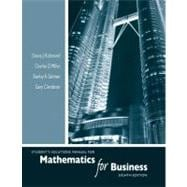Student's Solutions Manual for Mathematics for Business