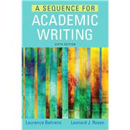 A Sequence for Academic Writing PLUS MyWritingLab with Pearson eText -- Access Card Package