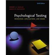 Psychological Testing : Principles, Applications, and Issues