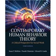 Contemporary Human Behavior Theory : A Critical Perspective for Social Work