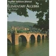 Student Solutions Manual for McKeague�s Elementary Algebra, 8th