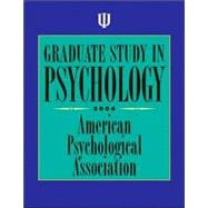 Graduate Study in Psychology 2006