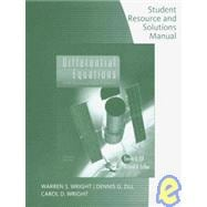 Student Solutions Manual for Zill/Cullen�s Differential Equations with Boundary-Value Problems, 7th