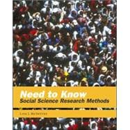 Need to Know : Social Science Research Methods