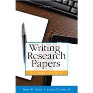 Writing Research Papers A Complete Guide (paperback) Plus MyWritingLab with Pearson eText -- Access Card Package