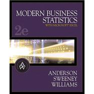 Modern Business Statistics With with InfoTrac (Book with CD-ROM)