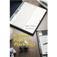 Writing Papers in Psychology A Student Guide to Research Papers, Essays, Proposals, Posters, and Handouts (with InfoTrac)