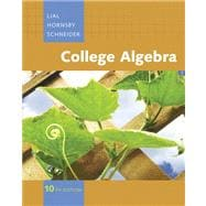 College Algebra Value Pack (includes Student Solutions Manual for College Algebra and Video Lectures on CD with Optional Captioning for College Algebra)