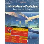 Introduction to Psychology (with InfoTrac) Exploration and Application