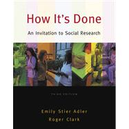 How It's Done : An Invitation to Social Research