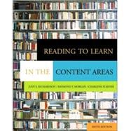 Reading to Learn in the Content Areas (with CD-ROM and InfoTrac)