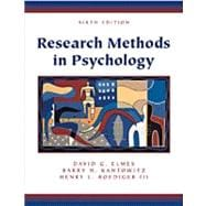Research Methods in Psychology (Non-InfoTrac Version)