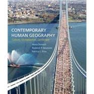 Contemporary Human Geography Culture, Globalization, Landscape