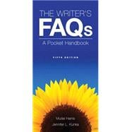 The Writer's FAQs A Pocket Handbook Plus MyWritingLab -- Access Card Package