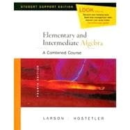 Elementary and Intermediate Algebra A Combined Course, Student Support Edition