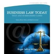 Business Law Today, Standard Text and Summarized Cases