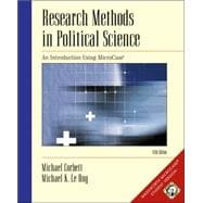 Research Methods in Political Science An Introduction Using MicroCase (with CD-ROM and Disk)