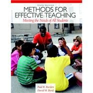 Methods for Effective Teaching Meeting the Needs of All Students Plus MyEducationLab with Pearson eText -- Access Card Package