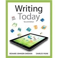 Writing Today with MyWritingLab with eText -- Access Card Package