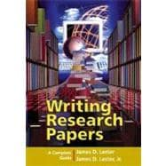 Writing Research Papers : A Complete Guide (spiral-bound) (with MyCompLab)