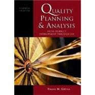 Quality Planning and Analysis : From Product Development through Use