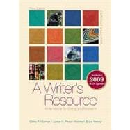 A Writer's Resource (comb-bound) 2009 MLA Update, Student Edition