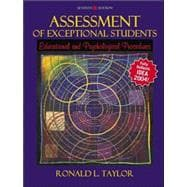 Assessment of Exceptional Students : Educational and Psychological Procedures