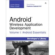 Android Wireless Application Development Volume I Android Essentials