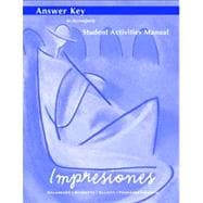 Impresiones : Answer Key to Student Activities Manual