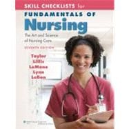 Skill Checklists for Fundamentals of Nursing : The Art and Science of Nursing Care