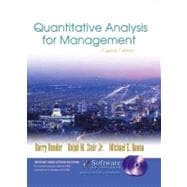 Quantitative Analysis for Management and Student CD-ROM