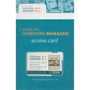 Homework Manager Access Code Card to accompany Operations and Supply Management