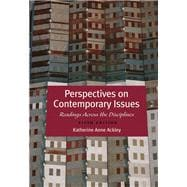 Perspectives on Contemporary Issues Reading Across the Disciplines