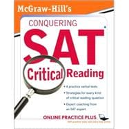 McGraw-Hill's Conquering the New SAT Critical Reading