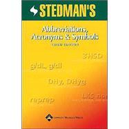 Stedman's Abbreviations, Acronyms & Symbols