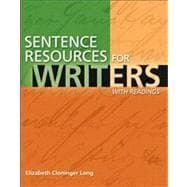 Sentence Resources for Writers, with Readings (with MyWritingLab)