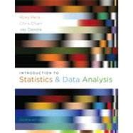 Introduction to Statistics and Data Analysis, 4th Edition