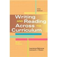 Writing and Reading Across the Curriculum, Brief Edition Plus NEW MyCompLab -- Access Card Package