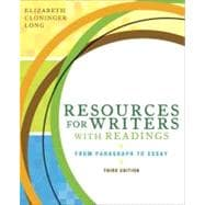 Resources for Writers with Readings (with MyWritingLab Student Access Code Card)