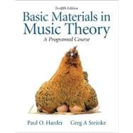 Basic Materials in Music Theory A Programmed Approach