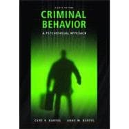 Criminal Behavior : A Pyschological Approach