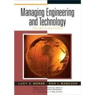 Managing Engineering and Technology : An Introduction to Management for Engineers