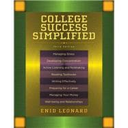 College Success Simplified Plus NEW MyStudentSuccessLab -- Access Card Package