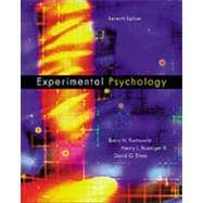 Experimental Psychology Understanding Psychological Research (with InfoTrac)