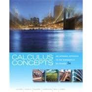 Calculus Concepts: An Informal Approach to the Mathematics of Change, 5th Edition