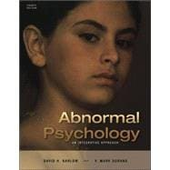 Cengage Advantage Books: Abnormal Psychology An Integrative Approach (with CD-ROM and InfoTrac)