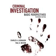 Criminal Investigation Basic Perspectives